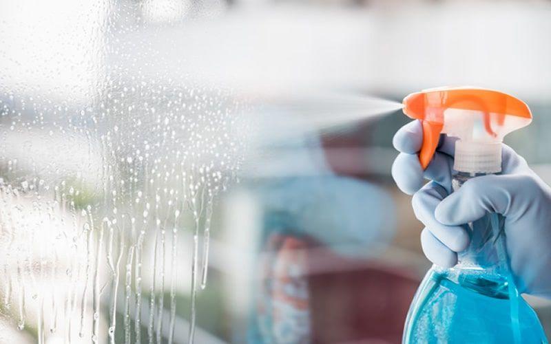 Serviço de limpeza de vidro